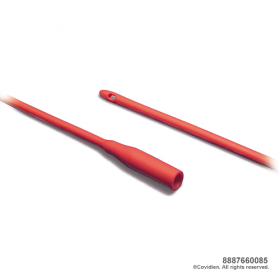 DOVER™ Red Rubber Robinson Urethral Catheter (Latex), Male
