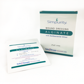 Simpurity™ Alginate Wound Dressing with Antimicrobial Silver